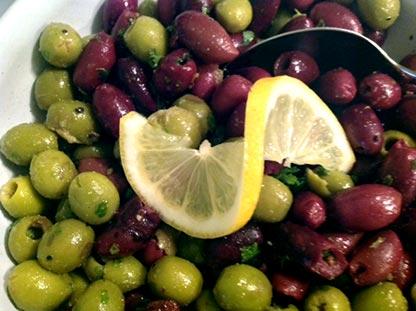 oliivit sitruunamarinoidut